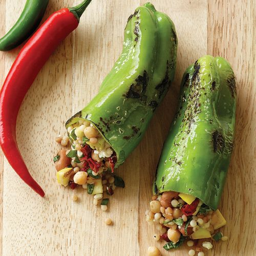 Grilled Stuffed Cubanelle Peppers Clean Eating Stuffed Peppers Cubanelle Pepper Cubanelle