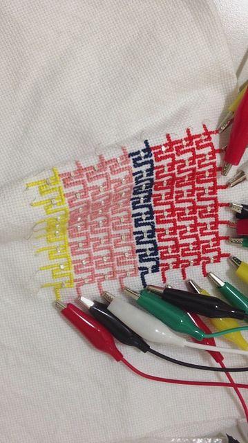 embroidery + led video displayer, via Flickr.   Fioso Nano Tech ...