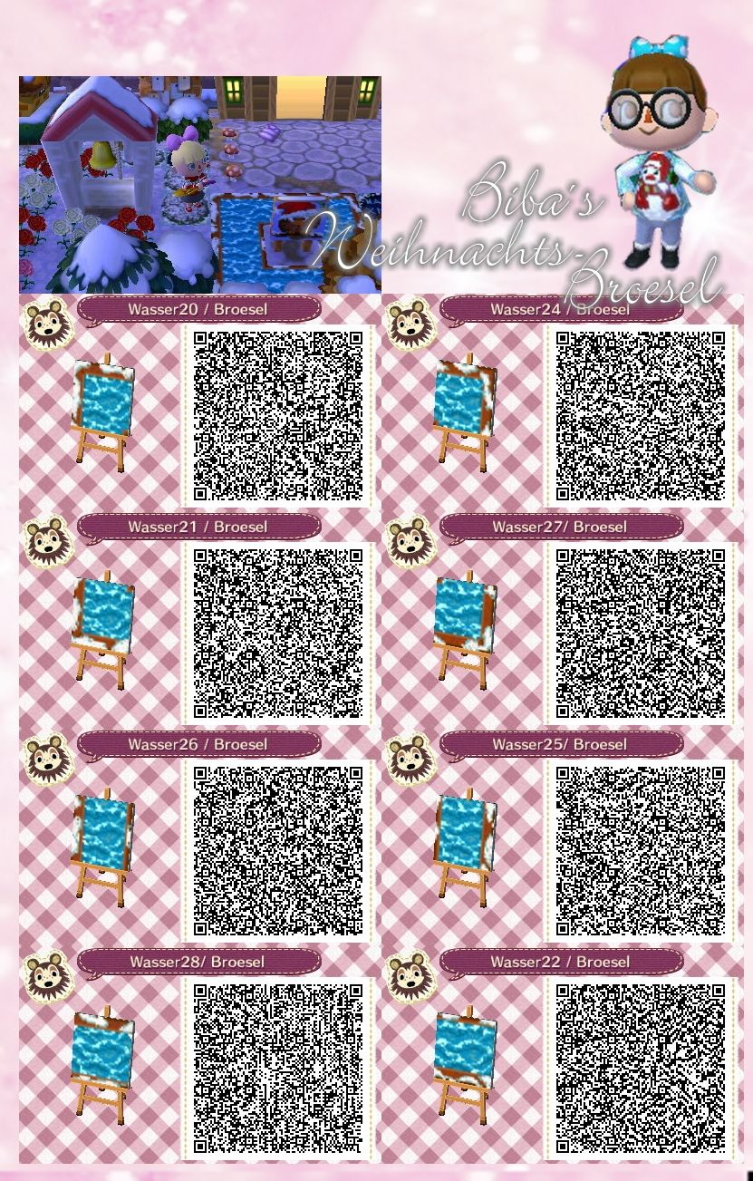 Winter xmas wasser snowi water path path weg for Boden qr codes animal crossing new leaf