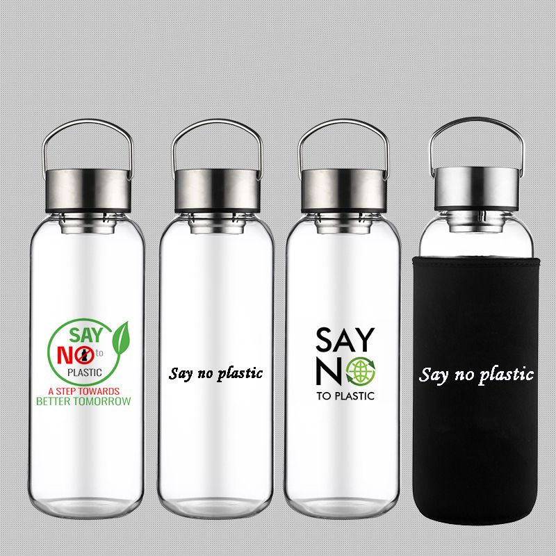 Portable 1 Liter Glass Water Bottle With Metal Lid In 2020 Glass Water Bottle Water Bottle Bottle