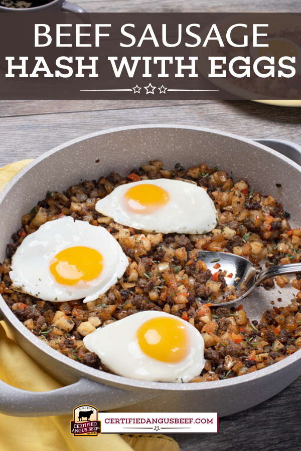 Beef Sausage Hash With Eggs In 2020 Beef Sausage Recipes Ground Beef Recipes Healthy Sausage Hash