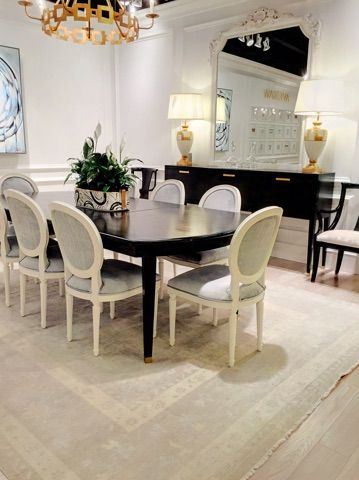 Dining Room Vignette Featuring Three Ave Home Lines Together Regent