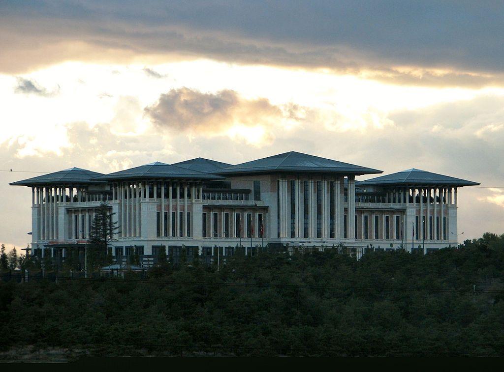 """* Ankara * Capital da República da Turquia. """"Ak Saray"""", Palácio Presidencial da Turquia."""