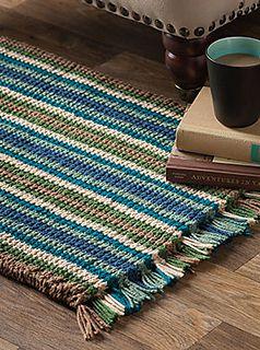 Cushy Corrugated Rug ~ February 2017 issue