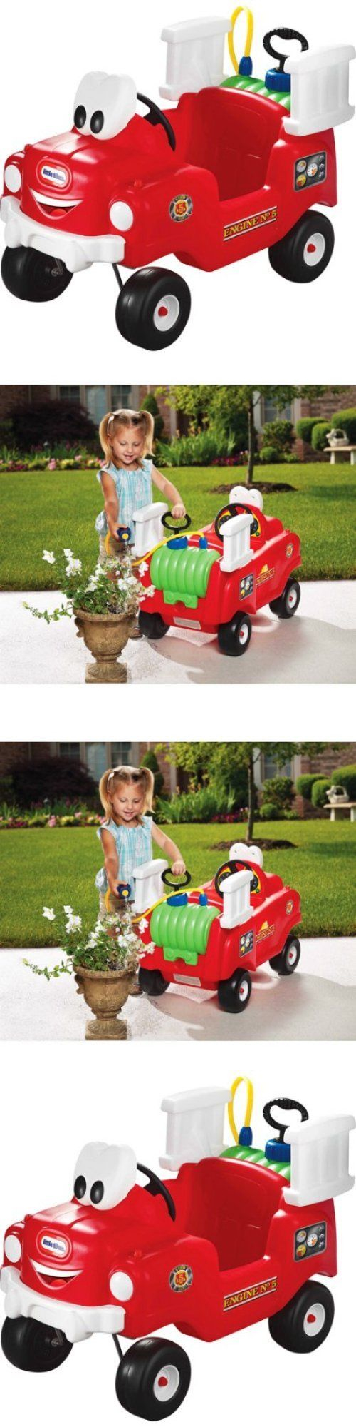 Little car toys  Child Size  Little Tikes Spray And Rescue Fire Truck Fun Ride