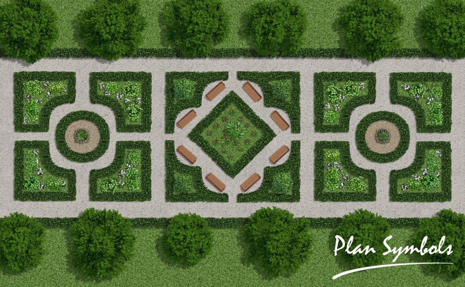 The Landscape Collection Enables You To Create Elaborate Landscape And Garden  Plans In Photoshop.