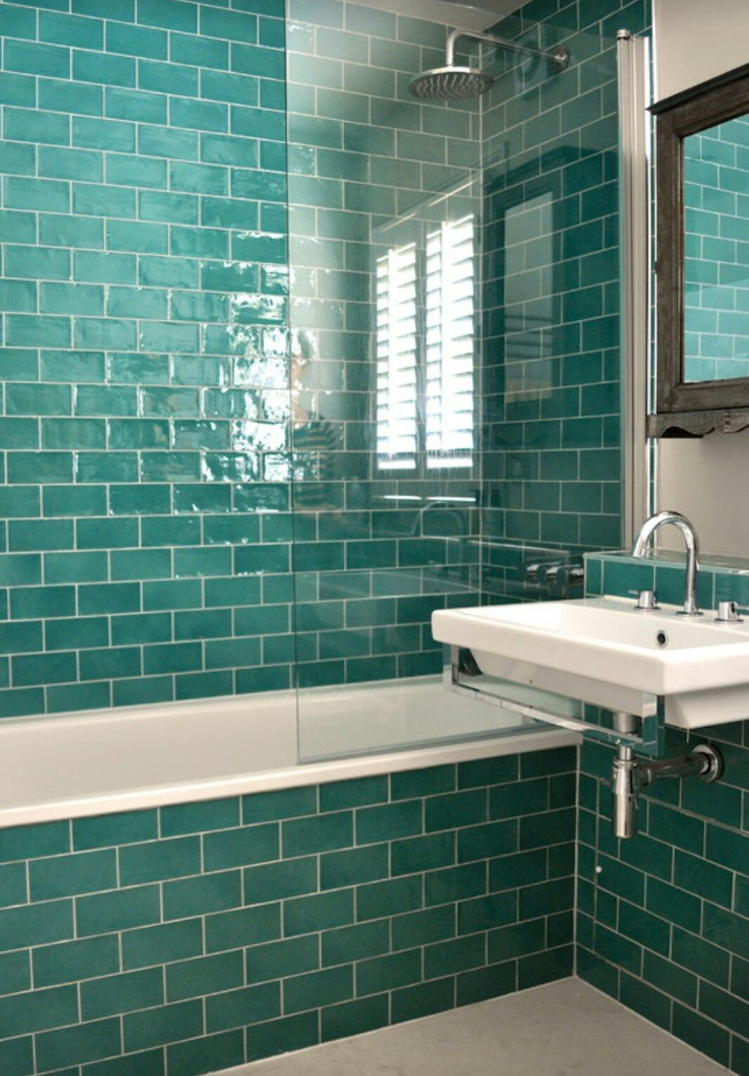 Teal metro tiles | home style // bathrooms in 2018 | Pinterest ...