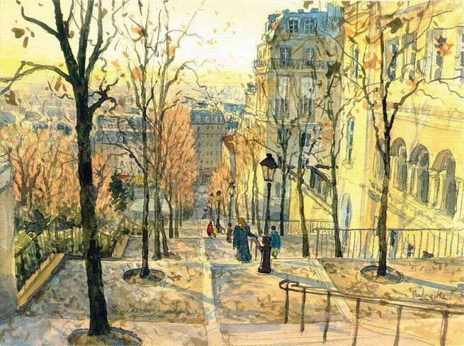 Montmartre Escaleras Al Sagrado Corazon De Jesus De Jean Charles