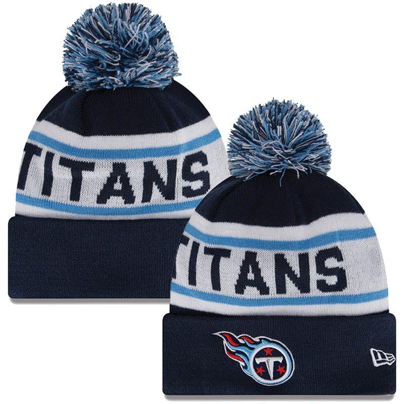 96e28957 Tennessee Titans Biggest Fan Pom Winter Knit Hat (Navy) | Yarn Love ...