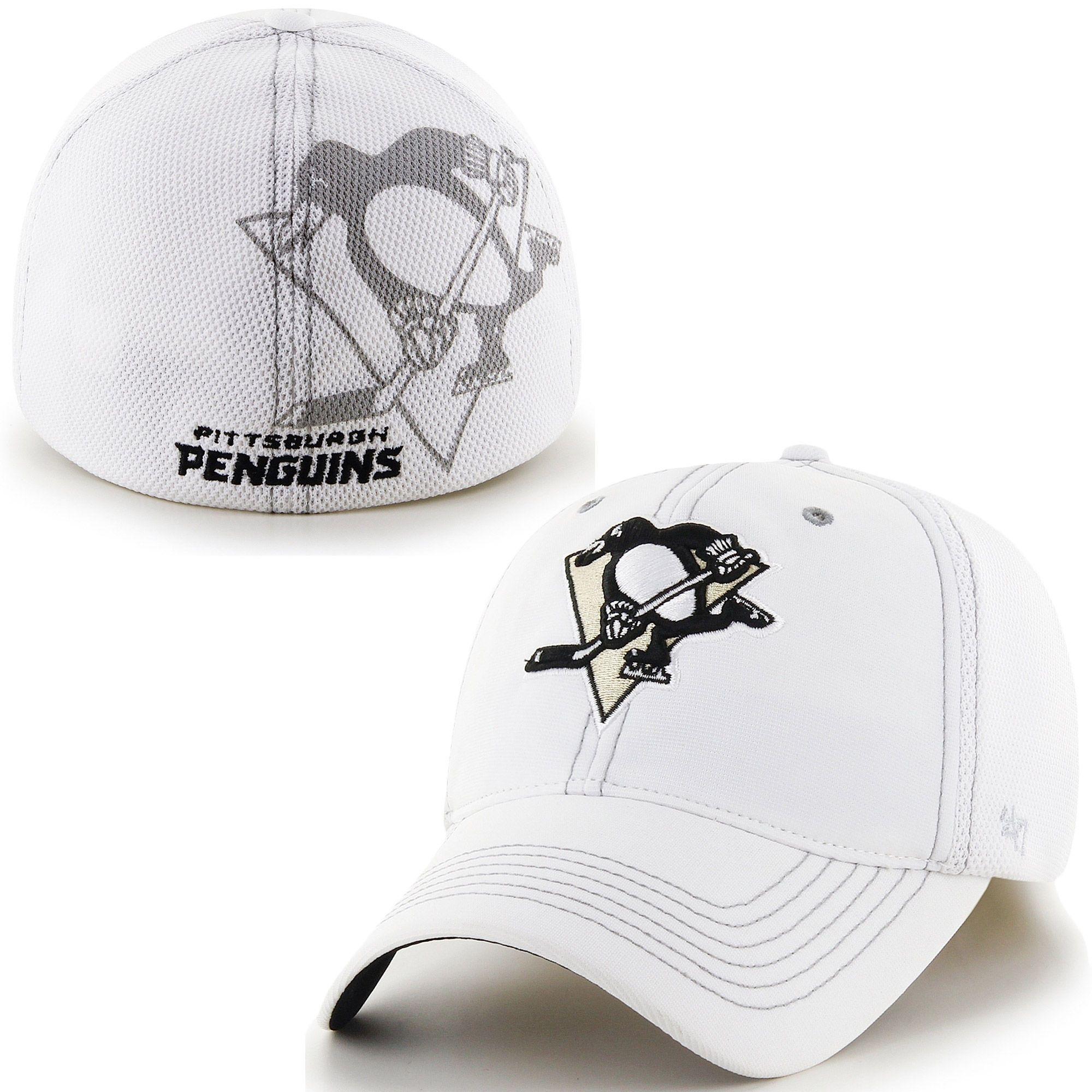 788d0fe542793 Pittsburgh Penguins  47 Brand Reversal Closer Flex Hat – White ...