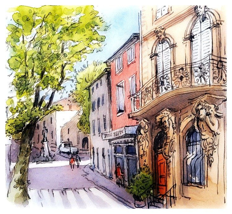 Eyguieres Provence France Provence France Urban Sketching