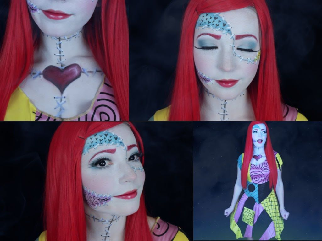 The Nightmare Before Christmas: Sally Inspired Makeup | costume ...