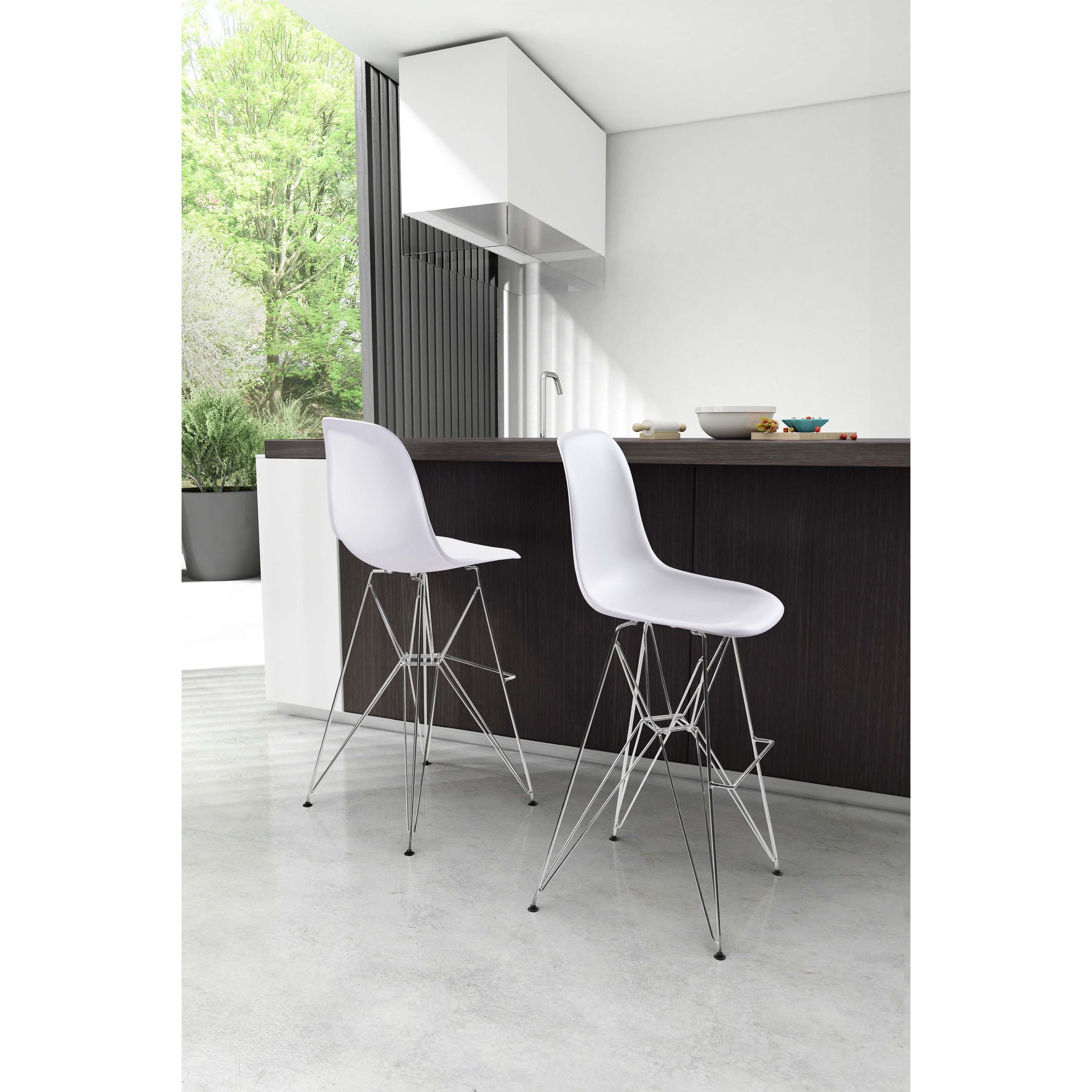 Zuo Modern Bar Stools White Creepingthyme Info