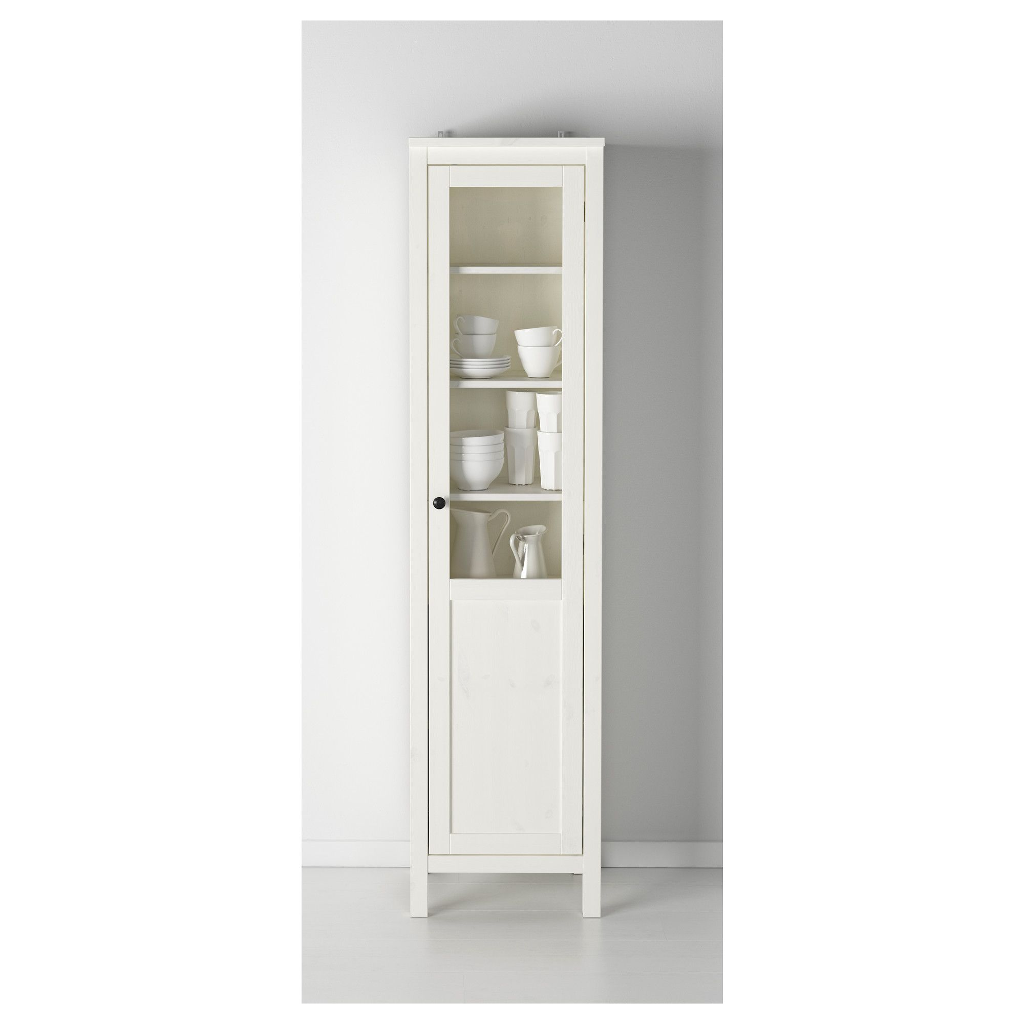 Beau IKEA   HEMNES Cabinet With Panel/glass Door White Stain