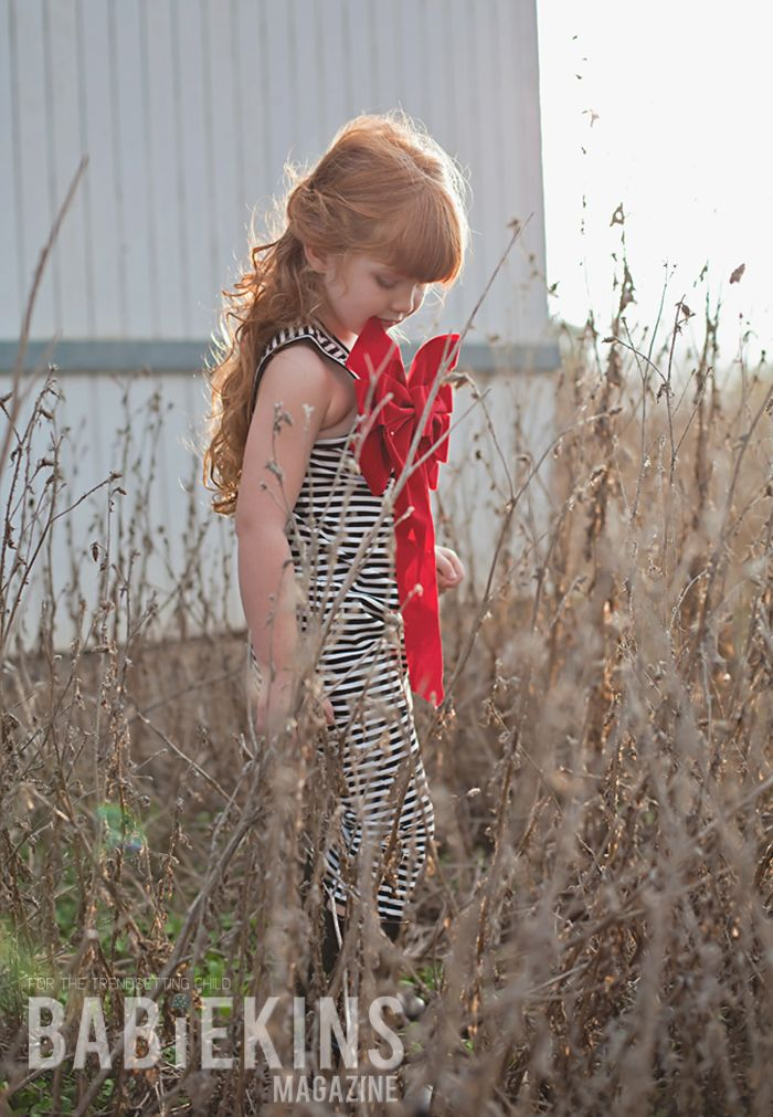 Fashionkins :: Editorial Stripes and Bow on Babiekins Magazine Blog