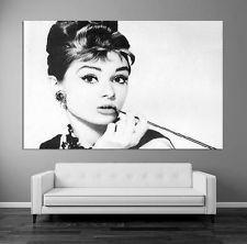 XXL BILD NEU Top - 180x100 - LEINWAND KUNST BILDER WALL ART Audrey Hepburn B&W