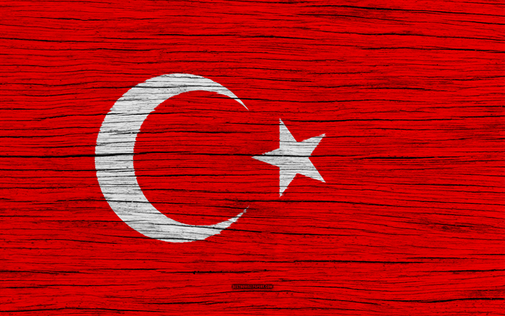 Download Wallpapers Flag Of Turkey 4k Asia Wooden Texture Turkish