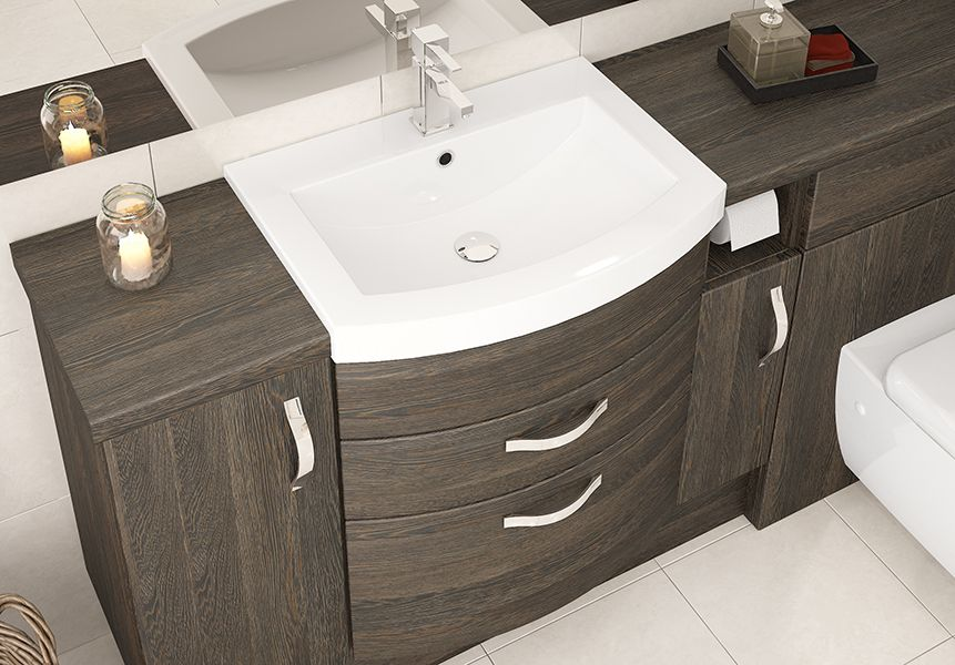 Mali Oak Fitted Bathroom Furniture Our Expertly Designed And Created Curved Basin Units Add That Extr Fitted Bathroom Furniture Basin Unit Bathroom Furniture