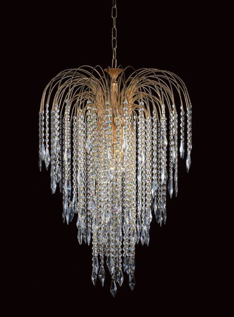 Large Gold Plated 6 Light Crystal Chandelier | Ooh, shiny ...