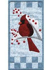 New Quilt Patterns Winter Cardinal Mini Wall Hanging