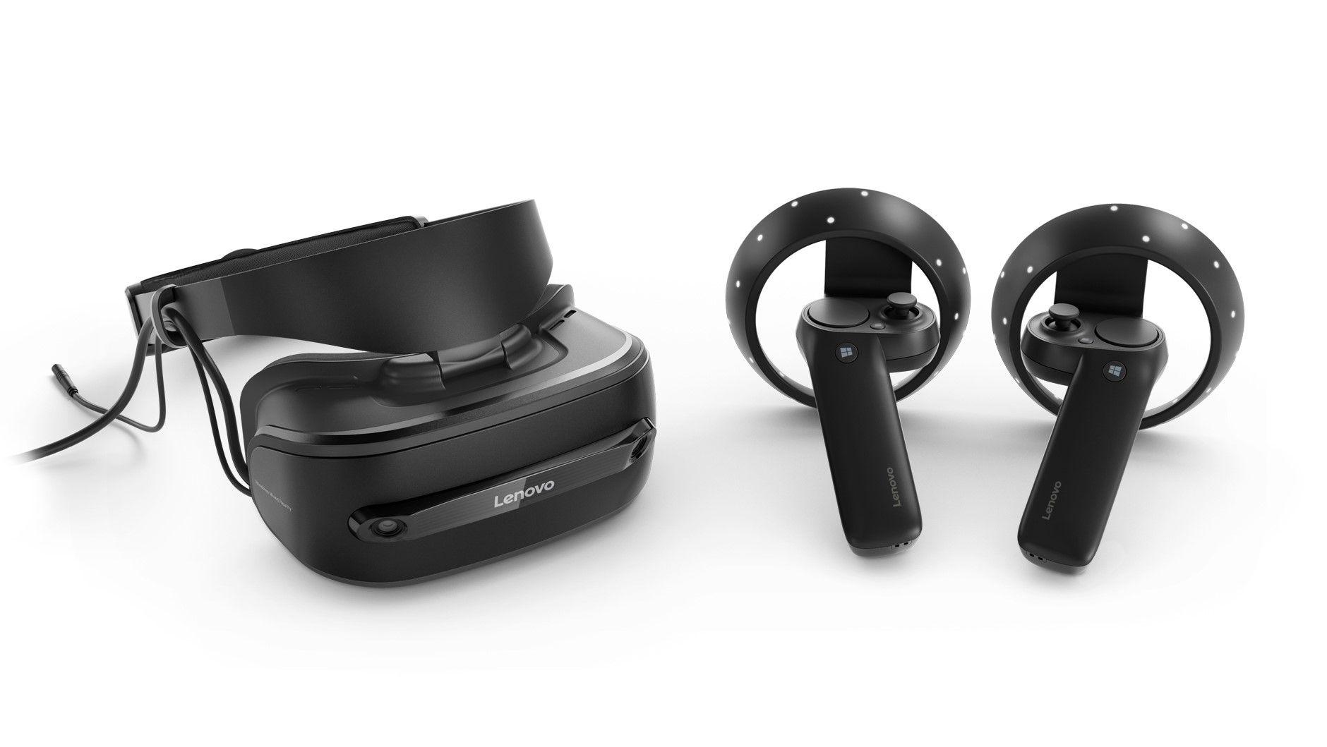Walmart Deal Brings Lenovo Explorer Headset Controller Bundle To 180 Vr Headset Lenovo Headset