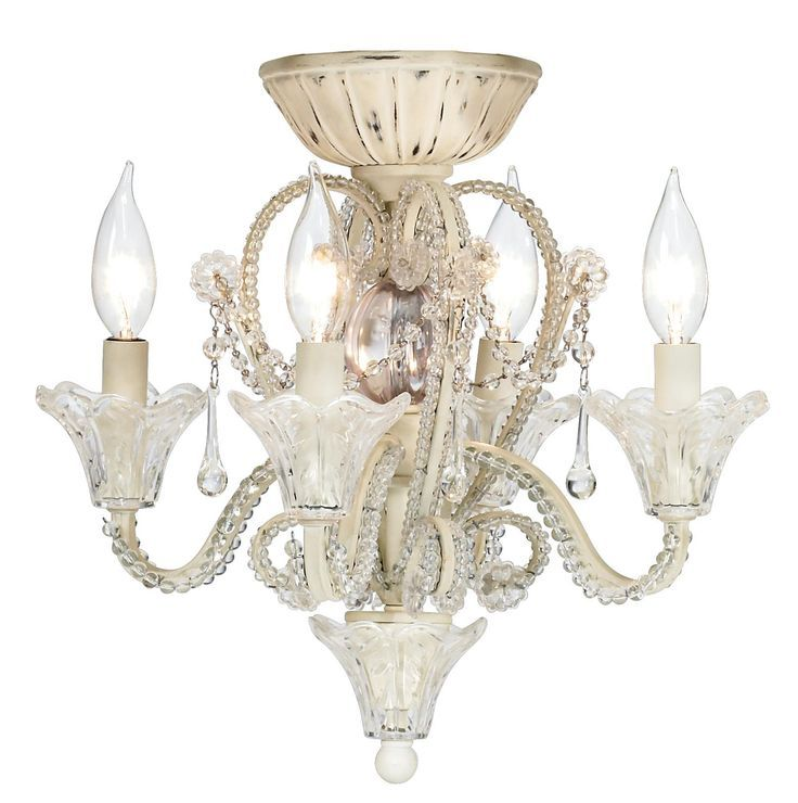 Candelabra+Ceiling+Fan+Light+Kit | Pull Chain Crystal Bead Candelabra Ceiling Fan Light Kit -