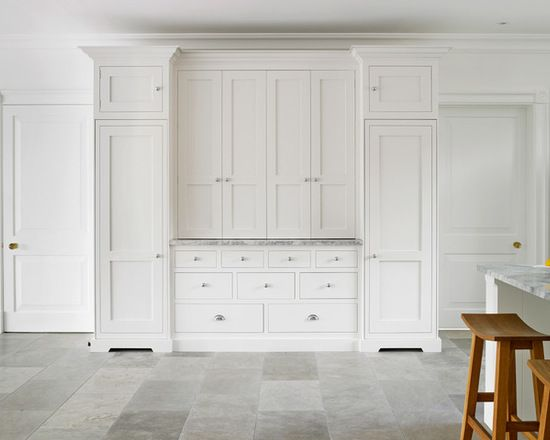 White Kitchen Dresser large white kitchen dresser exterior. modern shaker style cabinets