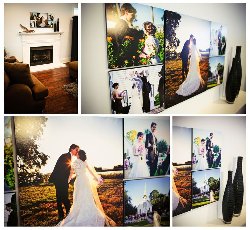 Wedding Pictures Wall Collage St Simons Island Photographers