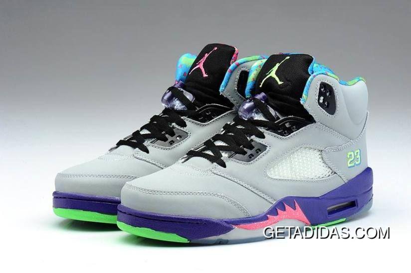 039017f937ae Purple Black Pink Green Jordan 5 Women TopDeals
