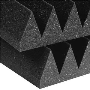 "Acoustic Foam 12 Pack Kit - Wedge 4"" 24"" x 24"" covers 48sq ..."