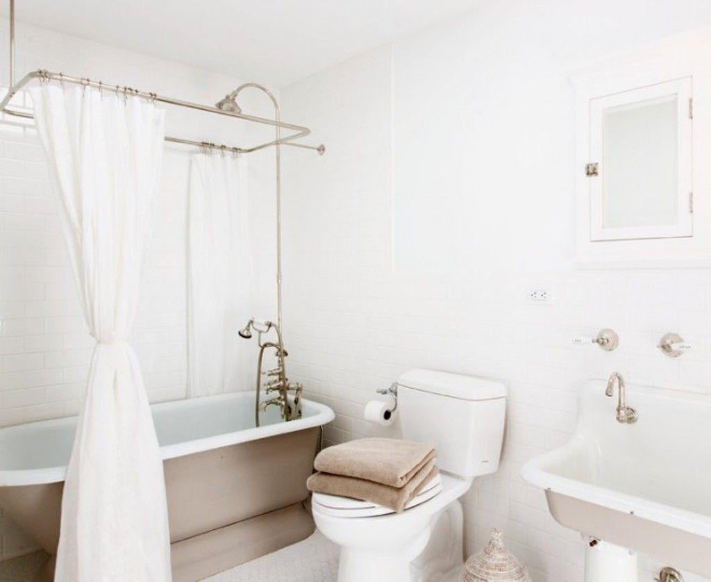 Fabric Shower Curtain Solution Small Bathroom Remodel Shabby Chic Bathroom Shabby Chic Room