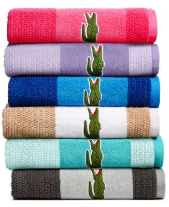 Lacoste Match Cotton Colorblocked Bath Towel Reviews Bath