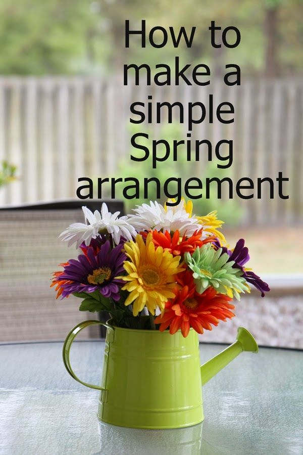 Southern Scraps : How to make a simple spring arrangement
