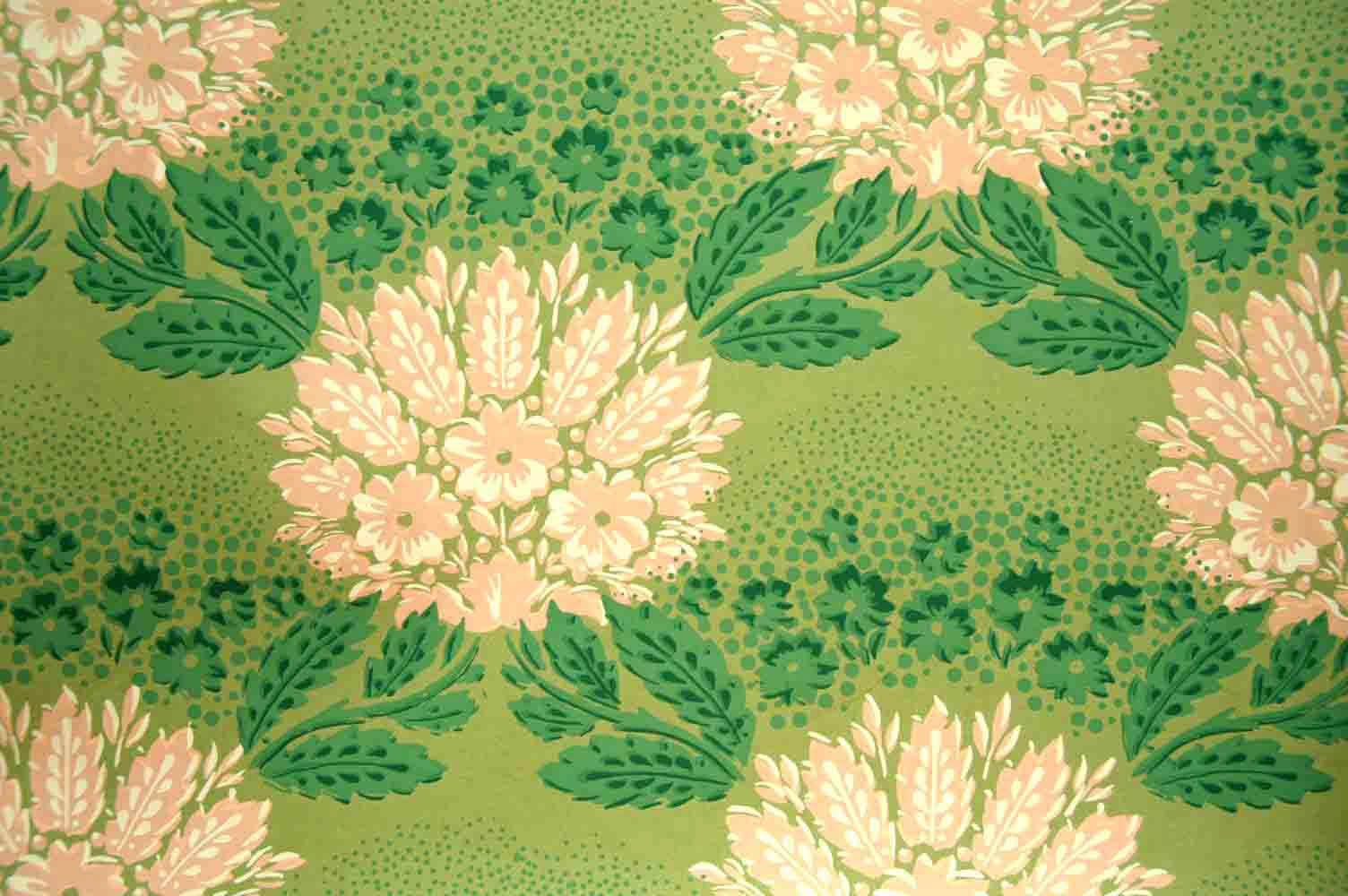 Tapetenreproduktion (wallpaper reproduction) Original aus Schloss Corvey - Höxter um 1800