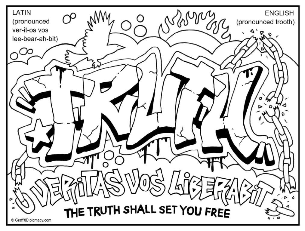 Truth Graffiti Doc Jpg 1 014 768 Pixels Graffiti Text Graffiti Coloring Pages