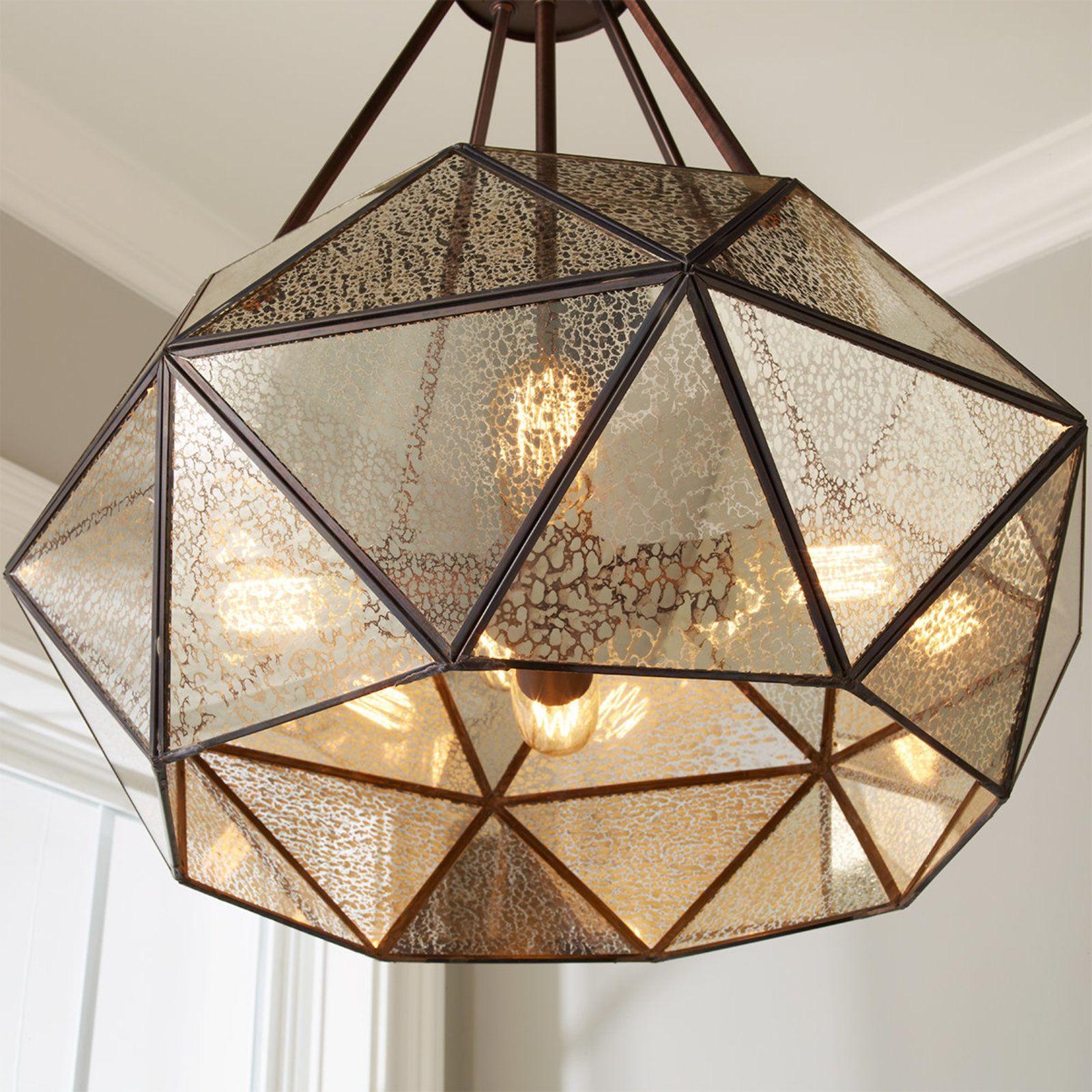 Prism framed mercury glass chandelier 4 light in 2019 auction