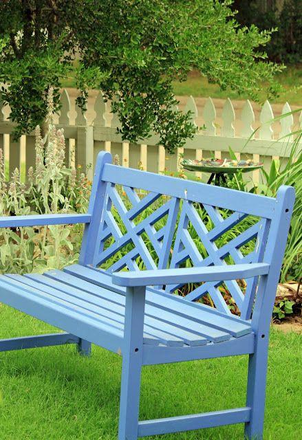 Benched Blue Garden Furniture Blue Garden Garden Bench