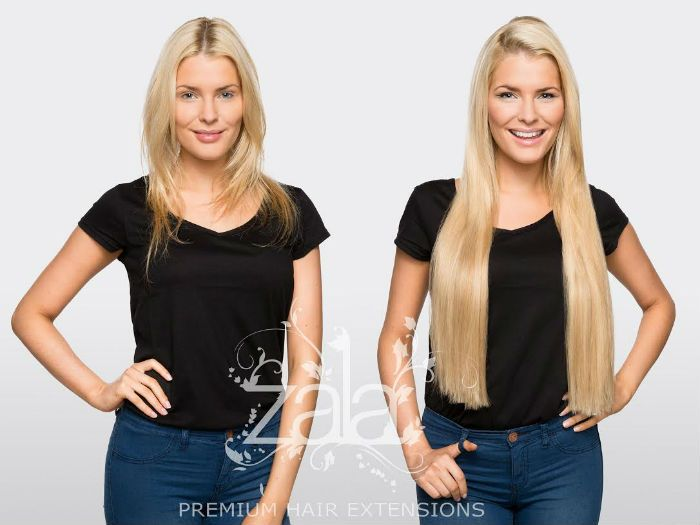 Before And After Zala Honey Beach Highlights 24 Clip In Hair