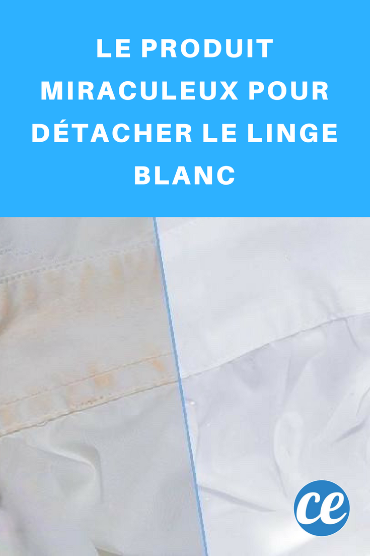 le produit miraculeux pour d tacher le linge blanc astuces linges blancs produit m nager. Black Bedroom Furniture Sets. Home Design Ideas