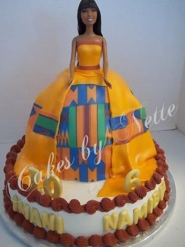 3D African American Barbie Cake Cakes By Nette  Girl