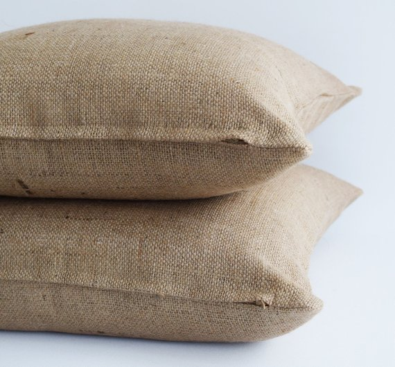 Blank Burlap Pillow Covers Burlap Throw Pillows Burlap Cushion Jute Pillows Plain Burlap Pillow Neut Burlap Pillows Burlap Throw Pillows Pillows