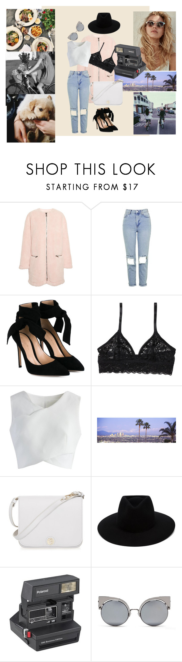 """""""Untitled #112"""" by dars78 ❤ liked on Polyvore featuring MSGM, Topshop, Gianvito Rossi, Monki, Chicwish, Furla, rag & bone, Polaroid and Fendi"""