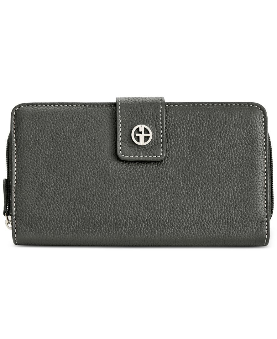 Giani Bernini Leather Receipt Manager Wallet with Anti Theft Technology, Only at Macy's