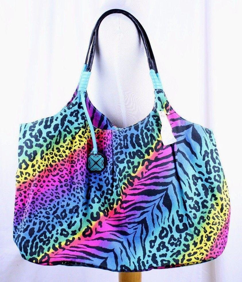 Roxy Bright Rainbow Cheetah Leopard
