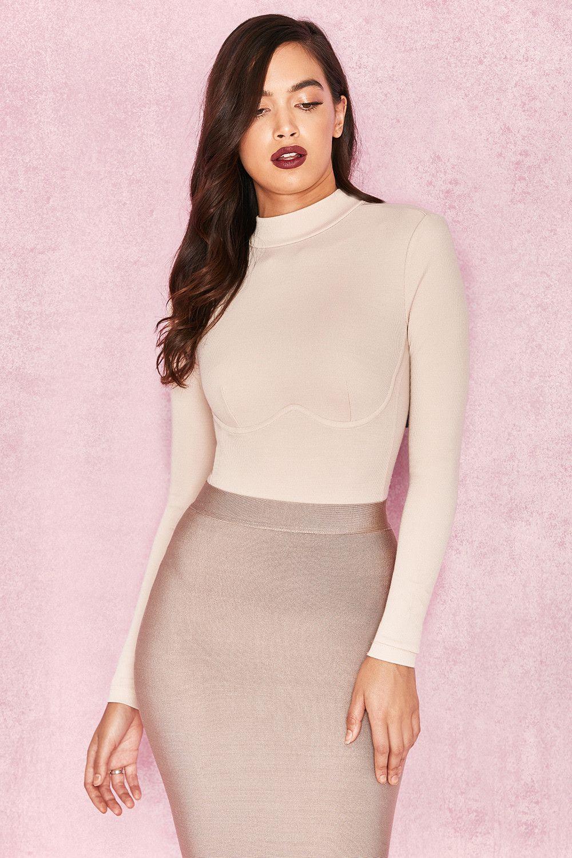 14efd46aec3 Clothing   Bodysuits    Adalin  Ivory Rib Knit Jersey Bodysuit
