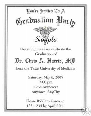 20 Graduation Party Invitations Dr