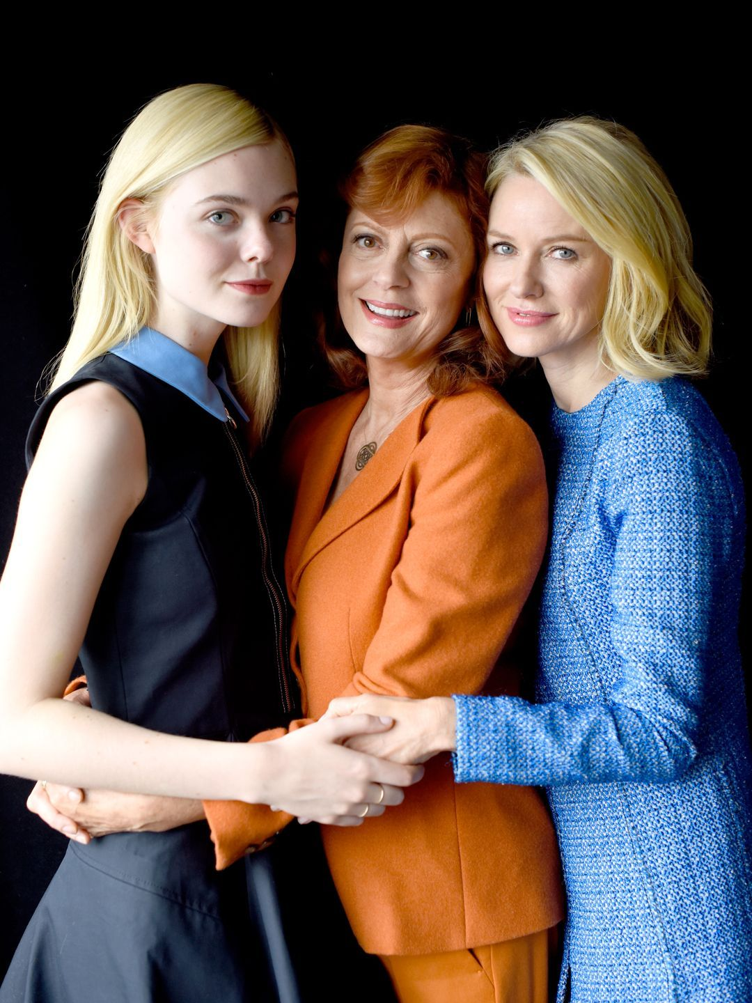 """About Ray"" cast members Elle Fanning, left, Susan Sarandon and Naomi Watts pose for a portrait at TIFF, Sunday. Jeff Vespa, Getty Images"