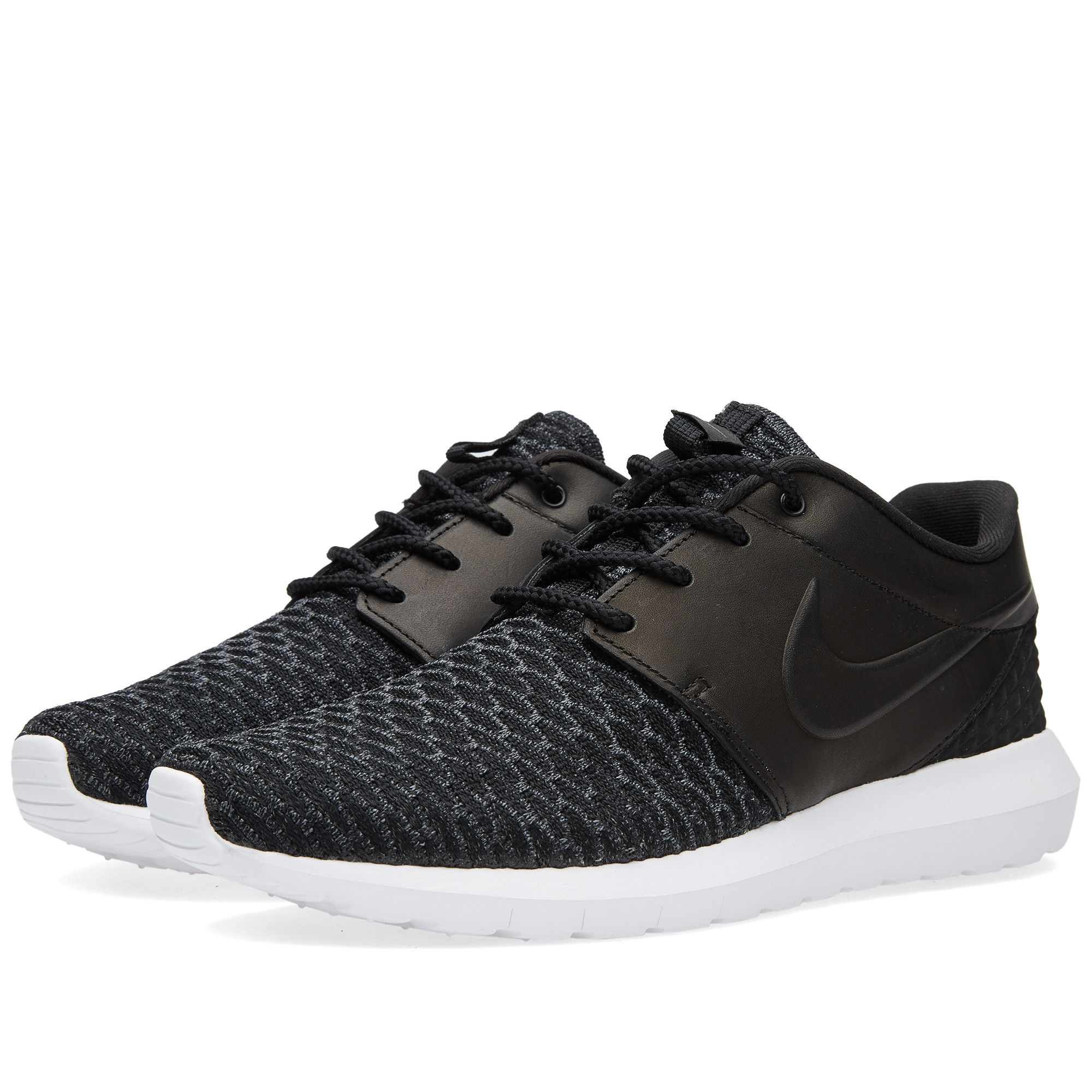 huge discount e55f0 adb46 Nike Roshe One NM Flyknit Premium (Black, Dark Grey   White)