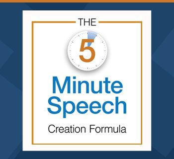The  Minute Speech Formula How To Create Your Speech Outline In