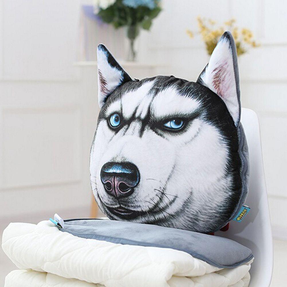 Pcs headrest cat dog shape sofa cushion toy doll car travel